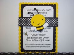 1000 ideas about bumble bee invitations on pinterest for Spelling bee invitation template
