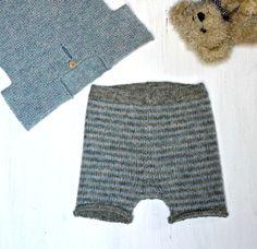 Strik uldne bermudashorts til baby