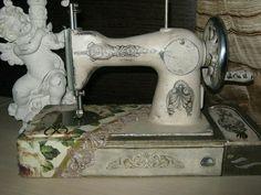 hermosa manera de reciclar una antigua máquina de coser