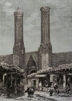 Houshamadyan - a project to reconstruct Ottoman Armenian town and village life Ancient Buildings, Water Damage, Ottoman Empire, Wood Engraving, Istanbul Turkey, Letterpress, Big Ben, Paris Skyline, Black And White