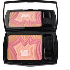 Desert Rose Blush (130 BRL) ❤ liked on Polyvore featuring beauty products, makeup, cheek makeup, blush, women, lancome blush, lancôme and powder brush
