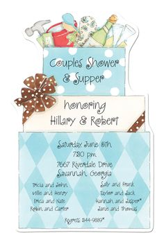 Cute Couples Shower Invite