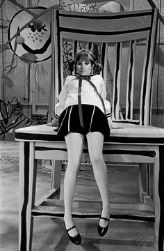 B&W Photography - Barbra Streisand On The Set Of Her First TV Special 'My Name Is Barbra' In 1965.