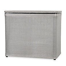 Exceptional 1530 Lamont Home Basketweave Bench Hamper In Silver
