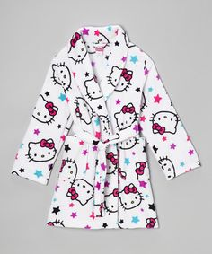 Take a look at this White Hello Kitty Stars Robe - Girls by Hello Kitty on #zulily today!