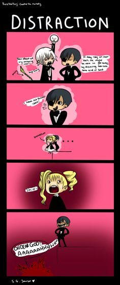 black butler funny comics | Distraction by blueskiies