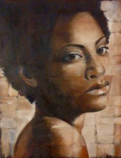 Study in oil by artist Anita Dewitt