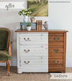 Custom White Milk Paint Dresser - Miss Mustard Seed