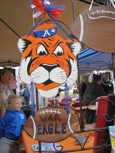 Auburn Tiger & Football door hanging.