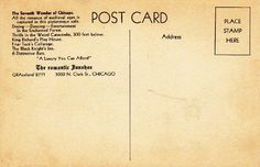 THE ROMANTIC IVANHOE RESTAURANT CHICAGO 1950s POSTCARD | eBay