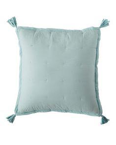 Tassel Quilt Euro Sham | Aqua | $27.99 was $68 blush + turquoise