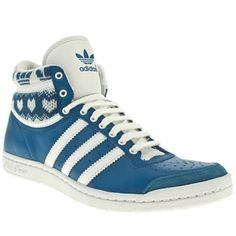 Women's Blue Adidas Top Ten Hi Sleek