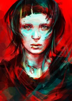 #painting of the girl with the dragon tattoo