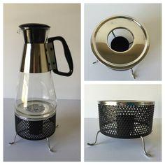 Vintage Pyrex Coffee Carafe Silex Coffee Warmer by GirlGoesVintage
