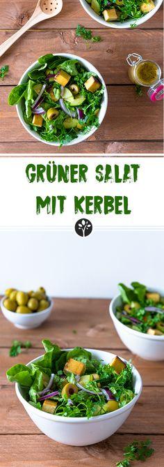 GRÜNER SALAT MIT KERBEL #einfach & #vegan