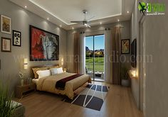 Naturally gives your #bedroom more sophisticated serenity than a palette featuring beautiful #Gold hues   http://www.yantramstudio.com/3d-interior-rendering-cgi-animation.html