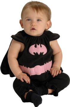 DC Comics Deluxe Pink and Black Batgirl Bib and Cape, 0-9 Months Rubie's Costume Co. $14.99