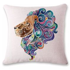 Power Source Self-Conscious Animal There Are Insects Of Fruit Watercolor Color Painting Pillow Cushion Cojines Decorativos Para Kussenhoes Linen Almofada