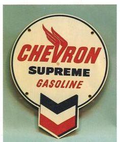 Vintage Gas Station Signs | Vintage-Gas-Station-Signs-1940-50s-Chevron-Gasoline-Sign-Two-Photo ...