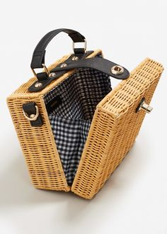 Bamboo basket bag