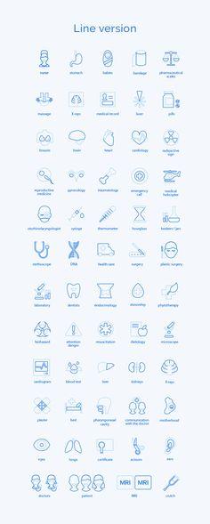 Medical Icons Set   AGENTE Medical Design, Healthcare Design, App Design, Icon Design, Hospital Website, Medical Websites, Hospital Icon, Brain And Heart, Obstetrics And Gynaecology