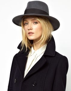 Whistles Ribbon Wool Fedora - perfect hat for those colder months. Via ASOS