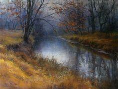 Gunpowder River Blues by Lisa Mitchell Pastel ~ 18 x 24