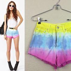 Nasty gal Mink Pink shorts Nasty Gal Mink Pink  size xs like new  tid dye cut off shorts  $60 Nasty Gal Jeans