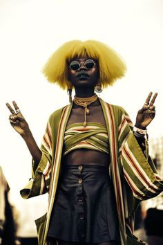 (notitle) - look - Punk Look Hip Hop, Pretty People, Beautiful People, Afro Punk Fashion, Fashion Hair, Trendy Fashion, Mens Fashion, Fashion Trends, Punk Mode