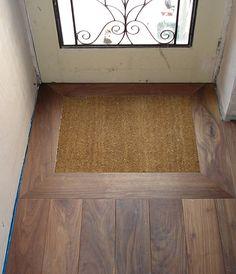 Recessed Door Mat In 2019 Hall Flooring Porch Doors
