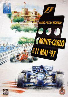 1997 Monaco Grand Prix poster