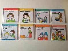 Lottebøgerne nr. 2, 4, 6, 8 og 10.