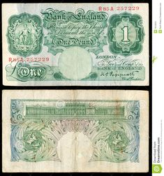 Old English banknote...one example...I understand there were many banks issuing their own banknotes
