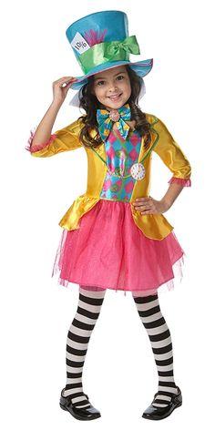 Disney Mad Hatter Girl - Girl's Alice in Wonderland Fancy Dress Costume - Mad Hatter Costume Kids, Mad Hatter Girl, Fancy Dress Costumes Kids, Kid Costume, Costumes For Teens, Mad Hatter Tea, Girl Costumes, Halloween Costumes, Halloween Sewing