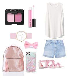 """Pink🎀"" by reginaest on Polyvore featuring moda, GRLFRND, Gap, Laruze, NARS Cosmetics, Casetify y Pink"