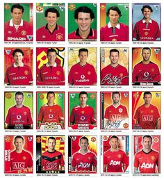 Ryan Giggs Merlin Panini stickers 1993-2013