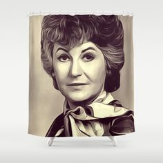 Beatrice Arthur Vintage Actress Shower Curtain