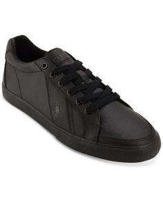 Polo Ralph Lauren Men's Hugh Lace-Up Sneakers - Black 8