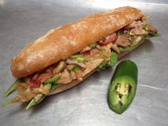 Our very popular and highly successful ROBERTO Tuesday is back! Sink your sandwich loving teeth into our Marinated Roasted Pig, Portuguese Bacon, Caramelized Onions, Chopped Jalapenos (optional), Fresh Baby Spinach & Olive Oil. We serve this all on our signature Portuguese roll, or over seasonal greens for our carb conscious friends! Sandwich $9.95