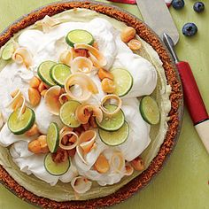 Key Lime Ice-Cream Pie - Parlor-Perfect Ice-Cream Pies and Cakes - Southern Living