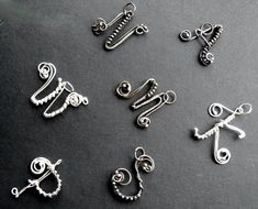 letter PENDANT - alphabet SILVER wire wrapping, initial, name signature by indoorcat