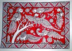 Madhubani_Dancing_Peacock-1385030224.jpg (322×227)