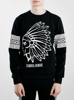 Criminal Damage Black Print Sweatshirt* that should be mine!