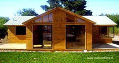 Casa económica prefabricada de madera en Chile