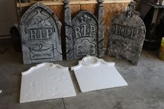 Picture of Home Made Grave Stones DIY how tos for Halloween