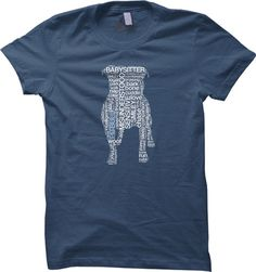 Pit Bull Text Steel Blue with White Text by DogParkPublishing, $22.00