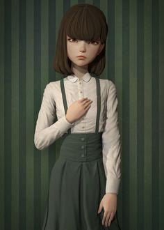 Quiet girl, metric  83 on ArtStation at https://www.artstation.com/artwork/quiet-girl