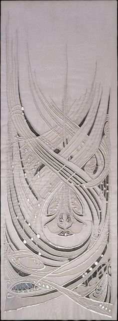 Dress Panel Hector Guimard  (French, Lyon 1867–1942 New York City)  Date:     ca. 1900 Medium:     Silk and paint on silk