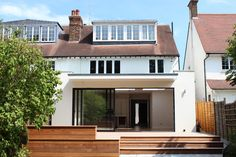 Living on the Edge: Traditional Ideals Meet A Contemporary House Design with Fine Texture of the Thatch 1930s House Extension, Rear Extension, Glass Extension, Extension Ideas, Modern Exterior, Exterior Design, Dormer Loft Conversion, Loft Dormer, Loft Conversions