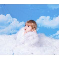 New 7x5ft Cartoon Cloud Rainbow Backdrop Little Princess Birthday Baby Shower Photography Background Girl Newborn Infant Kids Portrait Photo Booth Cake Smash Banner Photoshoot Prop Digital Wallpaper